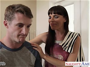 Lusty Dana DeArmond takes his large flow on her pretty face