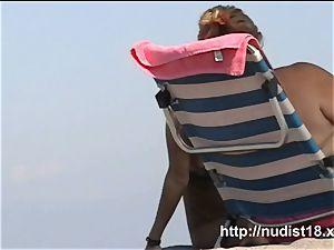 beautiful first-timer hidden beach webcam flick a spy webcam
