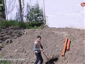MyDirtyHobby torrid teenager drilling the Gardener
