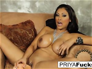 Priya satiates her hunger with a fucktoy
