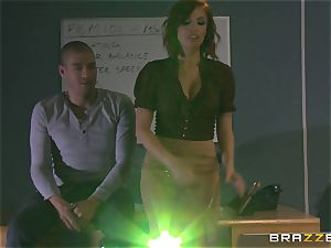 super-steamy redhead tutor Britney Amber displays student how its done