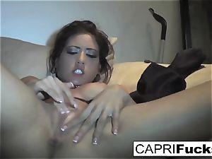 Capri Cavanni play with her raw fuckbox