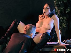 Abigail Mac takes on the monster pink cigar of Danny D