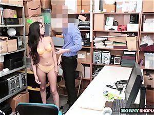 super-fucking-hot Latina Sophia Leone gets her vag pounded by officers hefty manmeat so rock-hard