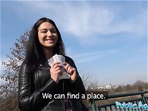 Public Agent Russian waitress porked outside in public