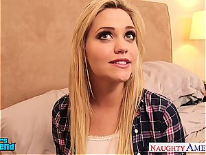 sweetheart Mia Malkova tears up supreme and left with jizz on her
