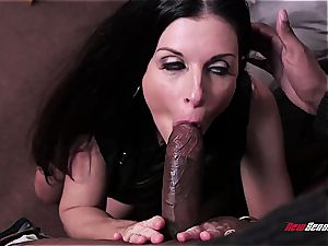 scorching wifey India Summer orgasming on a ebony trouser snake