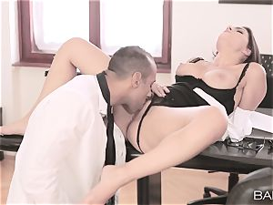 Valentina Nappi undresses off and pulverizes her boss