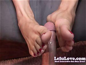 Lelu Love-Toe gargling Footjob cum shot