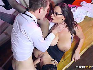 Lusty schoolgirl Ella Hughes and her big-titted teacher sensuous Jane need your phat hard manstick