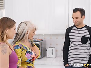 older blond mommy getting banged in her appetizing minge