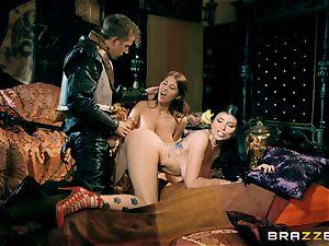 trio with Romi Rain and Ayda Swinger princess of thrones