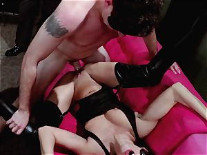studs observe on as Britney Amber and Nikki Daniels gang pulverize