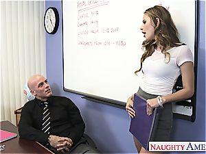 slender Jillian Janson kinky for her teacher's pecker