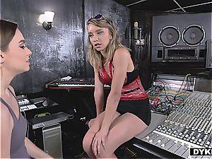 girl/girl tarts pummeling in the studio