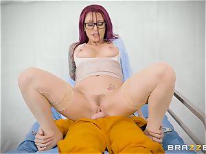 Monique Alexander slips her humid beaver down a rigid boner