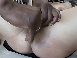 extreme interracial deep-throat lesson