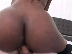 dark-hued bombshell Lexi Rose wedged deep in the pussyhole
