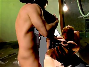 Shyla Stylez takes this rigid trunk deep in her taut bum