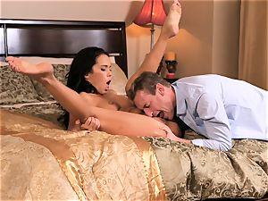 magnificent Megan Rain gets her taut vagina pummelled