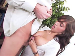 bitchy dark haired April ONeil getting her vagina broken by a monster pipe
