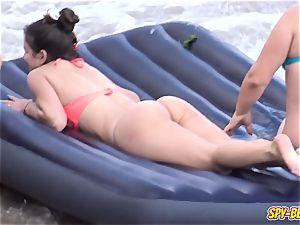 first-timer Beach sexy thong swimsuit nubile - voyeur flick