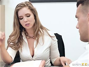 Office boink with huge-titted boss Lena Paul
