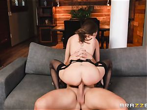 handsome Riley Reid assfuck pulverize with strung up insatiable Keiran