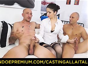 casting ALLA ITALIANA - steamy milf has dual ass-fuck joy