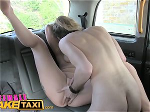 doll faux taxi fabulous driver gets some college girl manmeat