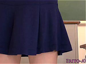 splashing japanese schoolgirl loses her undies