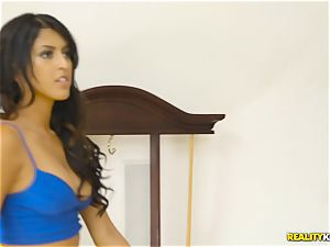 insatiable real estate agent Sophia Leone rams a customers cock in her jaws