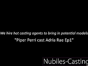 Piper Perri casts first time hardcore for lil' teen