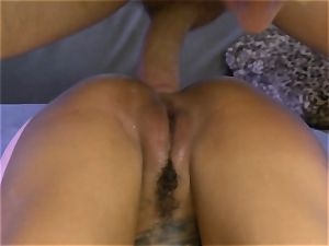 tattooed Bonnie Rotten squirts during ass-fuck