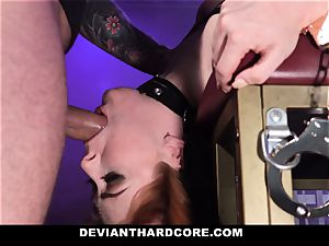 DeviantHardcore - sizzling redhead Gets throat ravaged