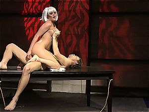 Charley chase is a platinum haired plow female