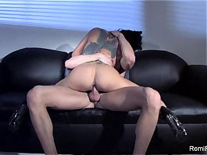 magnificent Romi Rain teases and then gets smashed rock-hard