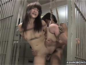 japanese ultra-cutie gets pulverized with force behind the bars