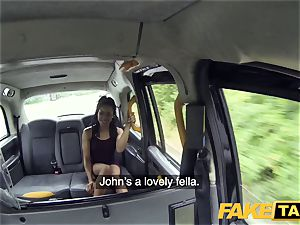 fake cab fast penetrating and internal ejaculation for peachy booty