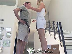 PUREMATURE Step sonnie pulverizes cougar - His college treat