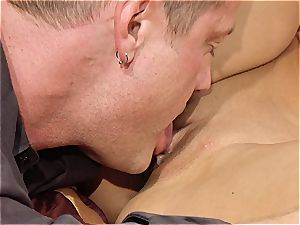 fabulous cougar Kayla Carrera is hungry for fresh meat