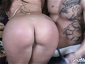 red-hot Blooded milf Blows and pummels a fat bone