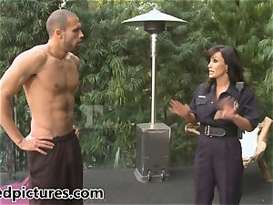 big-titted cop Lisa Ann gives out her chisel punishment