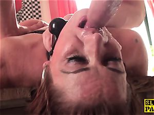 red-haired brit gimp ass-fucked and roped