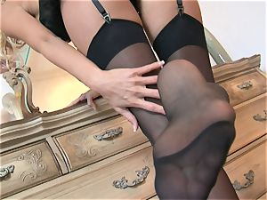 Solo honey Cody enjoy plays with her clean-shaven cooch