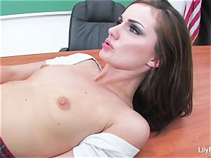 horny student Lily Carter smashes in detention