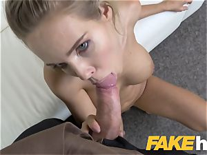 faux Agent big-boobed Czech babe loves finger-tickling and penetrating