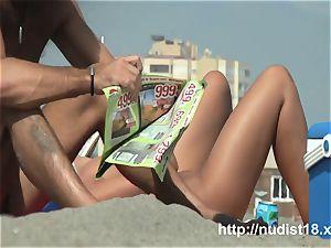 Real nudist damsels on hidden beach webcam