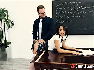 schoolteacher inserts his immense prick into Maya Bijou