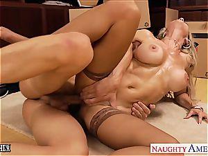 milf fucky-fucky teacher Brandi love humping a giant manmeat